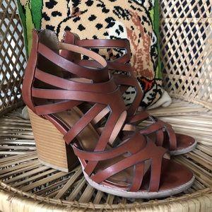 Chestnut Strappy Heel